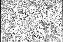 coloriage pour adulte style différents / by Isa Scrapisa