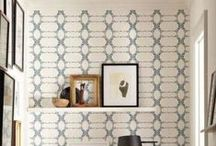 wallcoverings / Beautiful ways to dress your walls / by Angie Helm Interiors