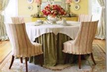 Decor- Soft Goods / Slipcovers and Furniture Fabrication, Table Skirts, and Upholstery Ideas / by Indigo Skies Design