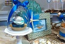 Beach Wedding - Sweets' Table / Creatively decorated with ocean and beach decorative accents to offer the bride, groom, and guests with a beautiful sense of freshness and style! Exquisite desserts made with the highest standards of flavor and elegance by Blissful Treats & Events! / by Blissful Treats & Events