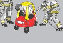 Fire Service / Professional Firefighter, Firemedic, Firefighter Equipment, Pictures and Humor / by Sterling Von Manlington