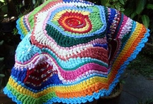 Rag Rugs - Trapilho / Crochet Rag Rugs. My Rag Crochet Blog: rag rugs, rag baskets, rag bags,rag table rugs,rag pots, etc. www.helenacc.blogspot.com.br / by Helena Maria Caldas