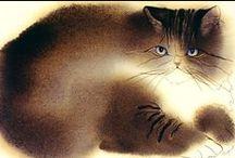 Cat drawings & Paintings / by Dalene Van Rensburg