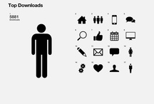 Pictograms & regular icons / Tiny pictograms, a bit of signaletic maybe, but no realistic icons ! / by JRMY LFBV