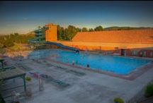 Hot Springs  / Fairmont's Outdoor pool and waterslide / by Fairmont Hot Springs MT