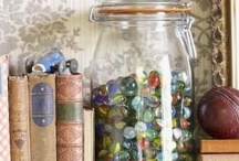 Marbles  / Love the memory of the fun times with marbles as a kid, love the colors & the way they feel in your hands...kind of like therapeutic like peace stones. Then there is always the hope of finding a valuable one for pennies at a yard sale  :-) / by Theresa Fednander