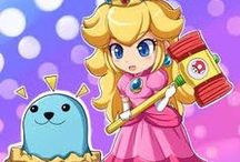 Super Peach World /  [in a letter] Dear Mario: Please come to the castle. I've baked a cake for you. Yours truly - Princess Toadstool, Peach.  / by Jess H.