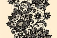 Lace Patterns / Lace patterns I will use for paper cut inspiration / by Karen Bailey