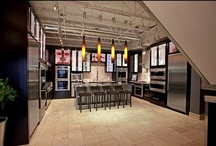 Bosch/Thermador Kitchen Display at Yale Appliance / New Bosch and Thermador kitchen appliances display / by Yale Appliance