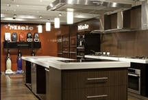 Miele Kitchen Display at Yale Appliance / New Miele gallery featuring refrigerators, dishwashers, cooktops, range hoods and vacuums / by Yale Appliance