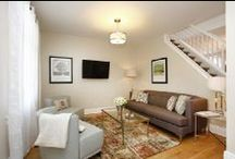 Living Room ideas / Helping me with ideas for our living room stairs area. / by Candice Ware