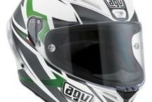 AGV Corsa / The Corsa has the performance of the Pista GP and the characteristics of a helmet for road use. The carbon-fibre/glass-fibre/aramid SSL (Super Super Light) shell was designed using FEM techniques (Finite Elements Analysis) and features EPS internal ducts in the shell to provide a small, light helmet which is both comfortable and extremely safe. The result is a helmet that is significantly superior than the limits set by ECE standards and that weighs just 1350 g  / by AGV Helmets Official