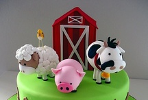 Farm animal cakes and cupcakes / by Galyna's edible art