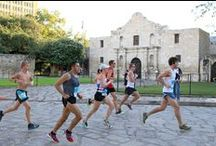 Rock 'n' Roll Marathon & 1/2 Marathon / The Rock 'n' Roll Marathon acts as a San Antonio running tour of many local landmarks and features numerous live bands along the way plus cheerleaders for extra motivation.   Sunday, Dec. 7, 2014 / by Visit San Antonio