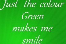 Green...is my favorite color! / by Marti Hyder Davis