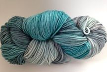 Hand Dyed Fingering Weight Yarn by Indigo Kitty Yarns / One of a kind luxury hand dyed yarns created just for your special projects. / by Indigo Kitty