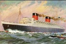 Planes, Ships and Trains / Ships, Trains, Planes, Boats, Vintage travel on trains, planes and ships, Titanic, Orient Express,  Royal Yacht Britannia, Queen Mary Ocean Liner, Queen Elizabeth Ocean Liner / by Great Buffalo Trading Post