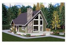 Contemporary House Plans / Some sleek contemporary floor plans take after Art Moderne house styles with their flat roofs and curved geometric shapes. Other home designs showcase natural materials and feature tall, over-sized or irregular shaped windows that emphasize a connection with nature.  / by COOLhouseplans.com