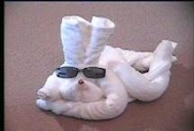Towel Animals ... Something Special in Your Guest Room / How to fold and create towel animals as a special touch to our bed and breakfast rooms. / by Clothing Optional Home Network