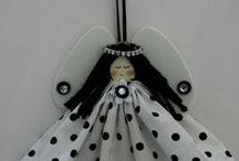 engeltjes - creatief - angel crafts / by Marijke Goudriaan