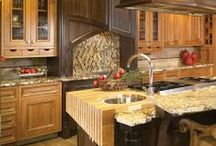Ideas for Kitchen Backsplash / by Tukasa Creations - Carpet, Tile and Hardwood Floors