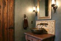 Mediterranean Bathroom Ideas / Mediterranean-inspired bathroom designs. / by Tukasa Creations - Carpet, Tile and Hardwood Floors