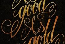 la calligraphie et la typographie / by Mona Bone Jakon