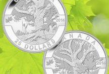 Ô Canada / La populaire série Ô Canada de la Monnaie royale canadienne met en vedette des emblèmes canadiens qui font vibrer notre fierté nationale et qui attisent l'amour que les Canadiens éprouvent pour leur pays.  / by Monnaie royale canadienne