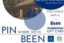 "Pin Where We've Been! / Create a Pinterest board labelled ""Pin Where We've Been."" Watch for snapshot clues on pinterest.com/deltahotels. Find the corresponding complete image on deltahotels.com. Re-pin the complete image from our website onto your ""PWWB"" board and share the board with us. / by Delta Hotels and Resorts®"
