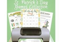 St. Patrick's Day Game Printables / St. Patrick's Day games for kids and adults. / by Funsational
