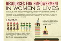 "#WomensLives / Infographics and images from The DHS Program's gender report, ""Women's Lives and Challenges: Equality and Empowerment since 2000 / by DHS Program"