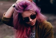 Addicted to Rainbow Dyed Hair / I LOVE brightly coloured dyed hair its like living with a rainbow on   on your head! / by Paige Foster
