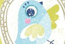 Pássaros & corujas / Desenhos e artesanatos com pássaros e corujas. / by Mayara Campos Moura