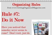 Organizing Rules  / by Getting Organized Magazine