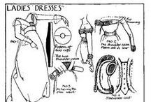Sew Historic Costumes and Vintage Wear / Vintage patterns, historical dressmaking, old time fashion techniques for costume making / by Denise Setchko