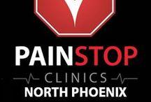 Pain Stop North Phoenix / 3202 E. Greenway Rd. Suite #1619 Phoenix, Arizona 85032 (602) 482-2282 http://painstopclinics.com/ https://www.facebook.com/NorthPhoenixPainRelief/app_273970339320628 / by Pain Stop Clinics