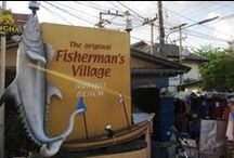 Fisherman's Village, Koh Samui / Fisherman's Village provides an eclectic mix of architectural styles, The Friday Night walking street market is a must do when in Samui. Tickets for tours and activities available at Island Info, inside Ark Bar Beach Resort https://www.facebook.com/IslandInfoThailand / by Island Info Samui