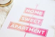 Dwell // Apartment Living / Ideas to make small rental spaces homey and unique / by Molly Ortner