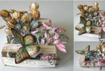 paper crafts / 3D paper crafts, origami, paper art, book art / by Merry Erin Edwards