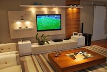 HOME THEATER / SALA DE TV / by Alessandra Basso