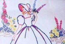 Redwork-Vintage Ladies / by Debra Ramsey