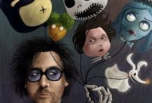 Tim Burton appreciation  :-) / Displays representing my fascination with the über talented & crazily creative Mr. Burton. / by Lisa Ridenour