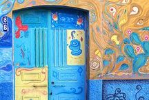 Doors with Character / I've always been fascinated by doors... old, colourful, pretty, battered... all doors as long as they're not boring modern/contemporary. / by Marni Sinclair-Ross