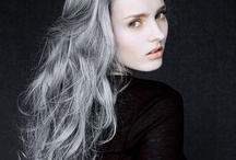 Grey / Silver Hair / Confident and proud men and women unite! Display your silvery locks to the world! / by Marni Sinclair-Ross