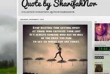 My Quotes / by Sharifahnor Hamidah