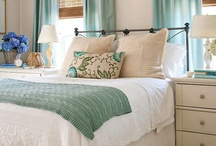 Master Bedroom / Grays, whites, aqua, gold and even silver with natural woods. / by Hannah {Bonne Nouvelle}