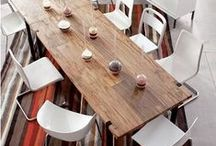 Modern Mismatched Dining Room Chairs / by Erica Glasier