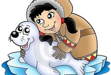 Thema Noordpool Zuidpool, kleuters/ Theme Polar region, preschool / Le pôle nord, maternelle / Thema zuidpool kleuters lessen en knutsels, pinguins, ijsberen, eskimo's, iglo's / Theme Polar region preschool lessons and crafts /  / Le pôle nord maternelle, bricolage, les igloos, inuit, esquimales. / by Juf Petra