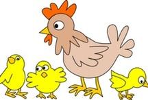 Thema kippen kleuters / Chicken theme preschool / Poule maternelle / Thema kippen kleuters, lessen en knutselen / Chicken theme preschool, lessons and crafts / Poule maternelle / by Juf Petra