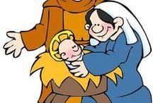 Bijbel: Jezus geboren, kerstfeest, kleuters / Jesus & His birth, preschool / Bijbel: Jezus geboren, kerstfeest, kleuters, knutselwerkjes, verwerking, kleurplaten,lessen / Jesus & His birth, preschool / by Juf Petra